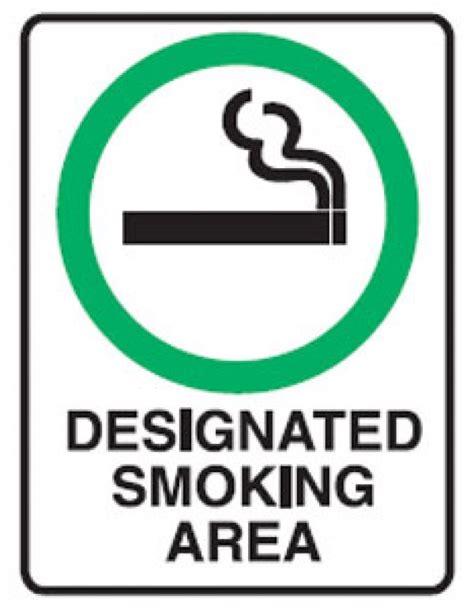 smoking allowed picto designated smoking area sign metal