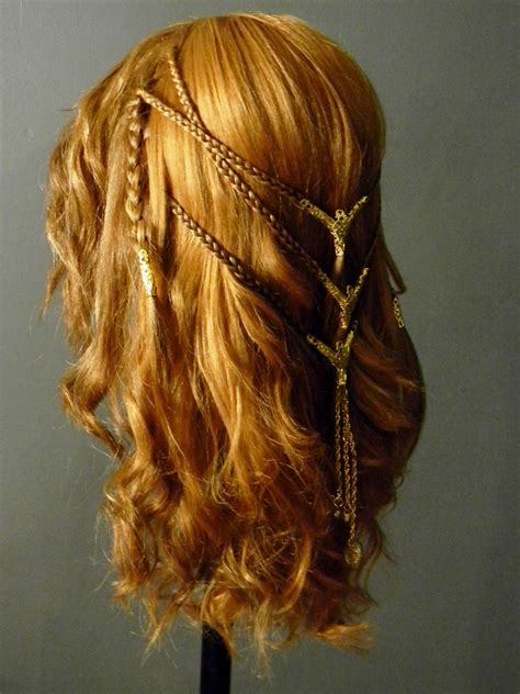 celtic warrior hair braids viking shieldmaiden celtic braid costume wig side by