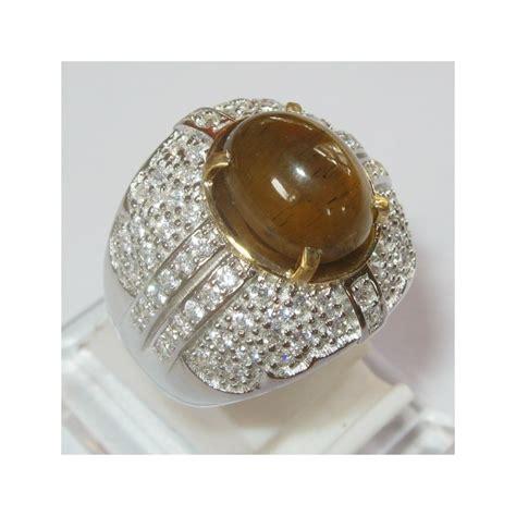 Cincin Cat Eye S cincin cat eye apatite 6 23 carat silver 925 ring 9us