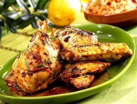 cuisiner le coq poulet marin 233 224 la m 233 diterran 233 enne recette pour barbecue