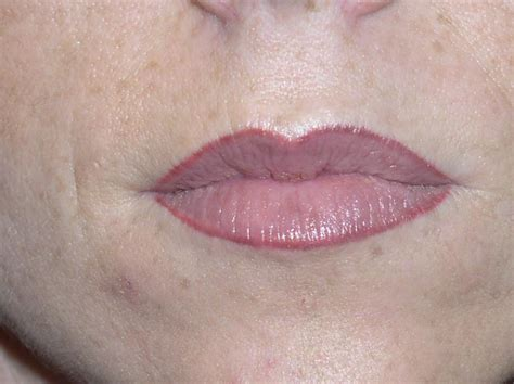 lip liner tattoo images full lip with lip liner healed from girlz ink permanent