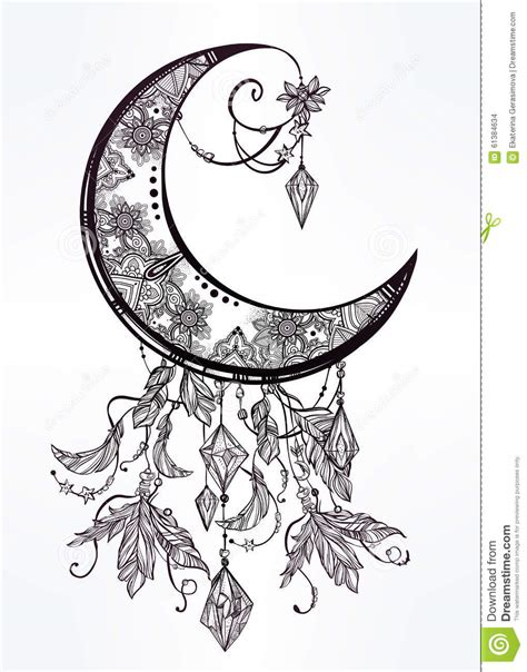 vintage moon illustrations girls wallpaper
