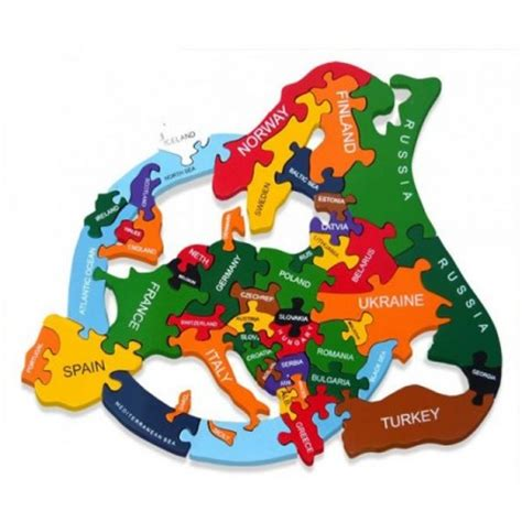 Handmade Wooden Toys Uk - wooden jigsaw puzzles map of europe