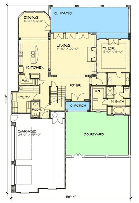 2nd floor balcony plans courtyard home with second floor balcony 36810jg