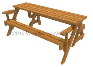 Folding Picnic Table Bench Folding Bench Picnic Table Woodchuckcanuck