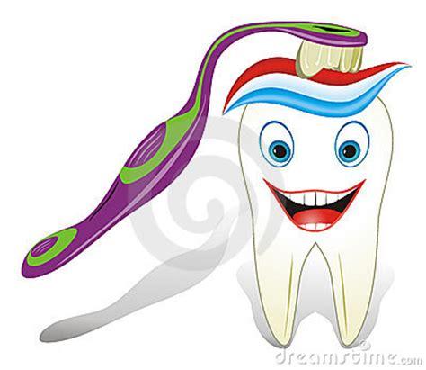 Dent Molaire Saine Avec La Brosse 224 Dents Et Le Toothpast Dent De Dessin Anime Avec La Brosse A Dents Image Libre De Droits L
