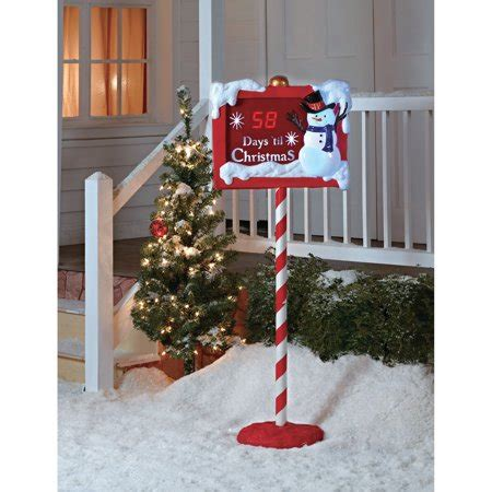 walmart christmas yard decorations countdown sign walmart