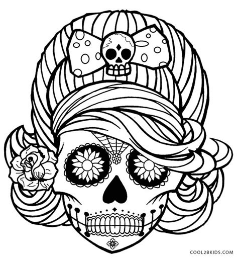 cartoon skull coloring page get this sugar skull coloring pages for grown ups 5759