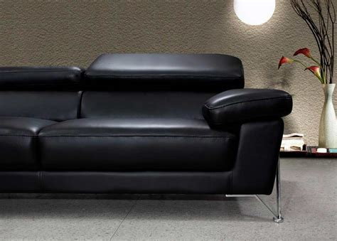 Leather Modern by Modern Black Leather Sofa Set Vg724 Leather Sofas