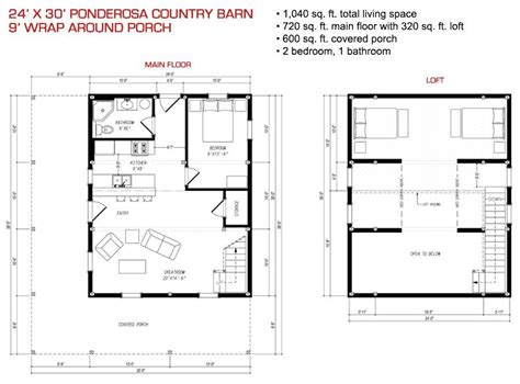 24x30 house plans pre designed wood barn home barns gambrel kits