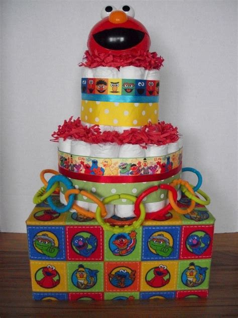 Sesame Baby Shower Decorations by Sesame Elmo Cake Baby Shower Gift Table