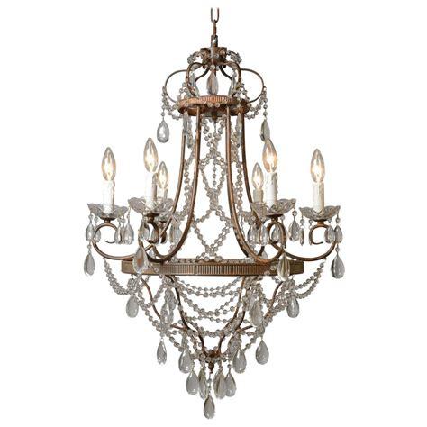 Decor Chandelier Y Decor Palais 6 Light Antique Bronze Chandelier With Lz1026c 6rr The Home Depot
