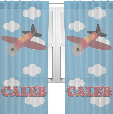 airplane curtains airplane sheer curtains 60 quot x84 quot personalized rnk shops