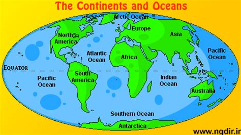 map of continents and oceans water cycle