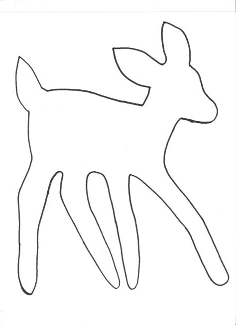 deer template to make and decorate today bebe s choice fav