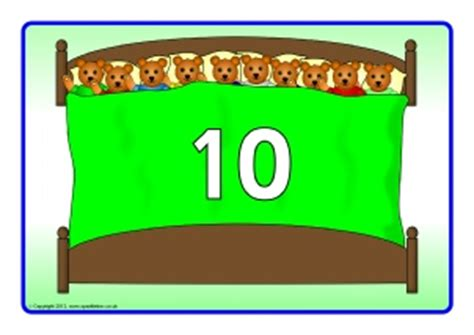 bed number 10 printable esl eal nursery rhymes and songs teaching