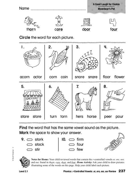 R Controlled Vowel Worksheets by R Controlled Vowel Worksheets For Third Grade Phonics R