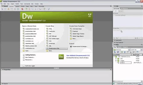 tutorial dreamweaver cs3 creating css website from scratch dreamweaver cs3 youtube