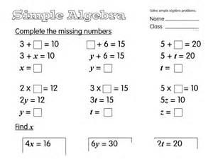 simple algebra a year 6 algebra worksheet