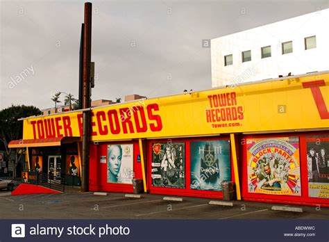 Record Search California Tower Records On Sunset Boulevard Los Angeles California Stock Photo