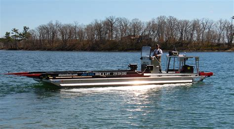 boat lift barge barge service for boat lifts docks in detroit lakes mn