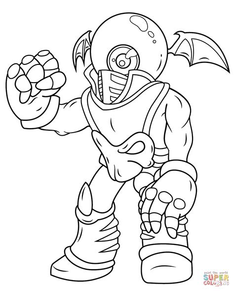 eye brawl coloring page eyebrawl skylander free coloring pages