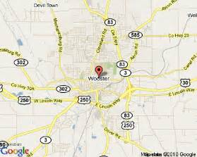 Wooster Ohio Map by Wooster Ohio