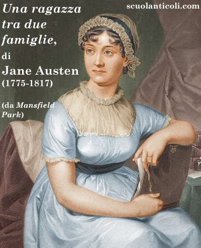 una ragazza in due testo quot una ragazza tra due famiglie quot di austen