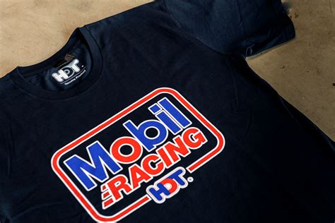 mobil hdt racing t shirt is a retro re release of the