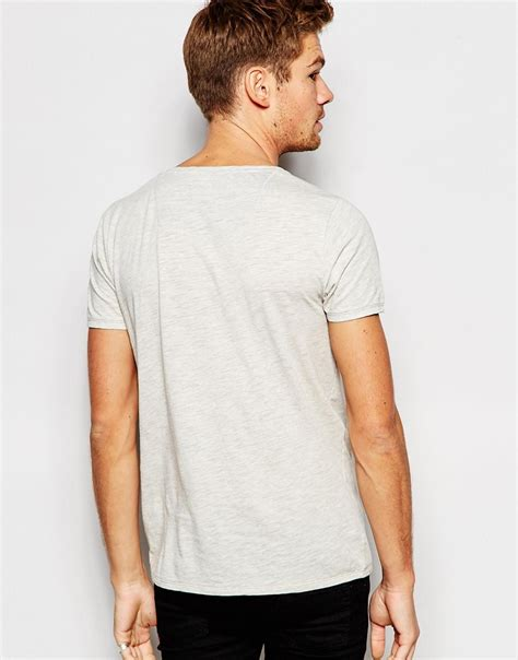 Branded Esprit 997cc1k802 S T Shirts White esprit t shirt with front pocket beige in gray for