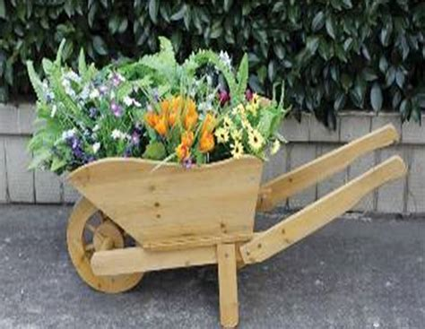 Wooden Wheelbarrows Planters by Wooden Wheelbarrow Planter 163 39 99