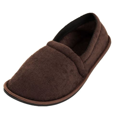 cloth slippers mens slippers house shoes terry slip on sole