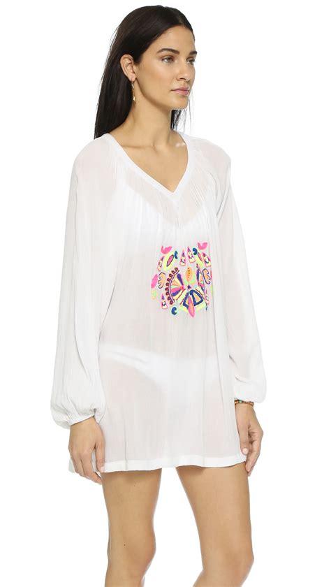 Tunic White Sohib 3 lyst pia pauro blouse tunic white in white