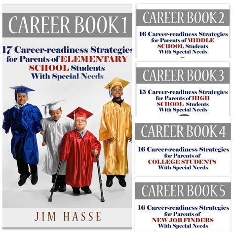 covers of five career books about career readiness for