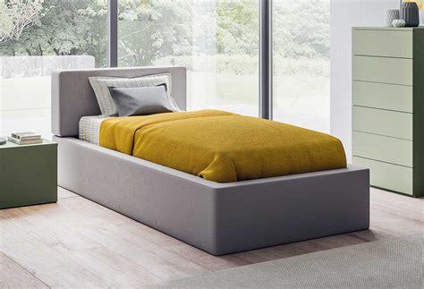 letto singolo letto singolo con box contenitore quadro clever it