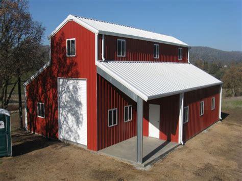 barn living home ideas metal barn house inspired plans basement pole