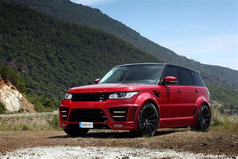 land rover red range rover sport lumma clr rs red topcar