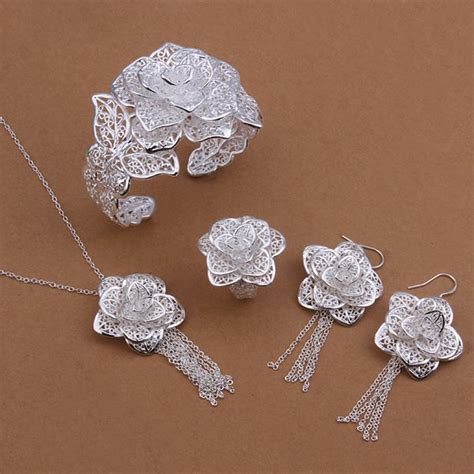 silver for jewelry wholesale wholesale 925 jewelry silver plated jewelry set silver