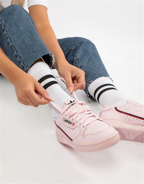 adidas originals continental 80 s sneakers in pink asos