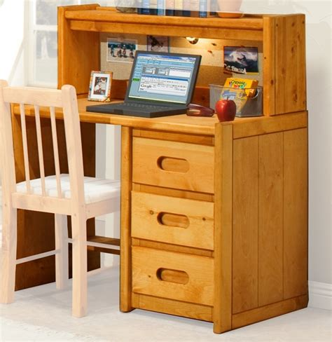 Pine Desk With Hutch Rustic Style 40 W X 24 D Solid Pine 3 Drawer Student Desk With Hutch Cinnamon 3544785 4788