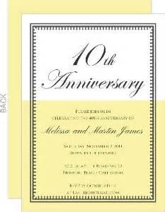 Cheap 10th Anniversary Invitations Invite Shop 10 Year Anniversary Invitation Templates