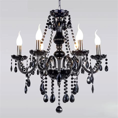 Unique Light Fixtures Chandeliers Black Modern Chandelier E14 Candle Holder Novelty Classic Luxury Chandelier Wedding