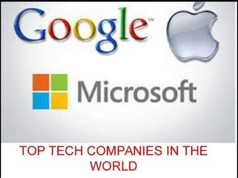 top 10 tech companies in the world 2016