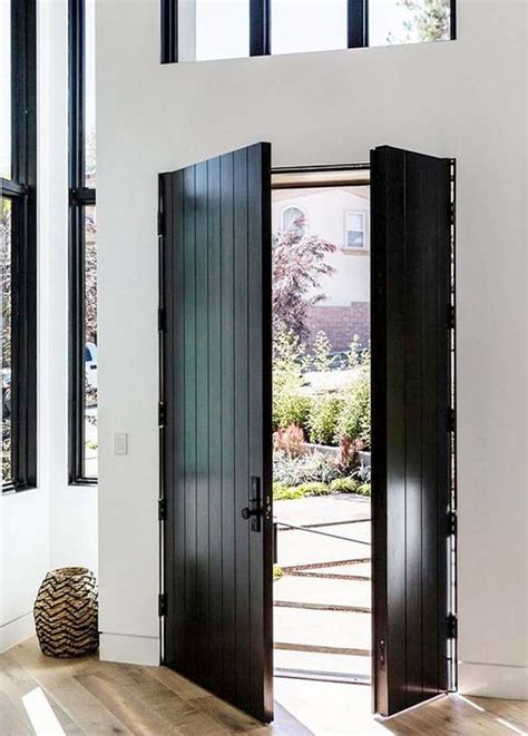 front door styles 2016 27 chic dark front doors to try for your entry shelterness