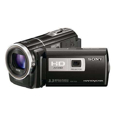 sony hdr pj10 high definition handycam camcorder with projector the tech journal