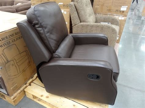 swivel leather recliners costco synergy caroline leather recliner swivel glider