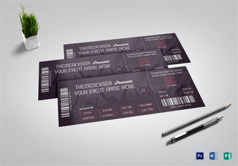 29 inspiring exles of ticket designs free premium