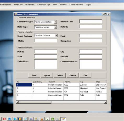layout design in vb net vbnet windows application project on electricity billing