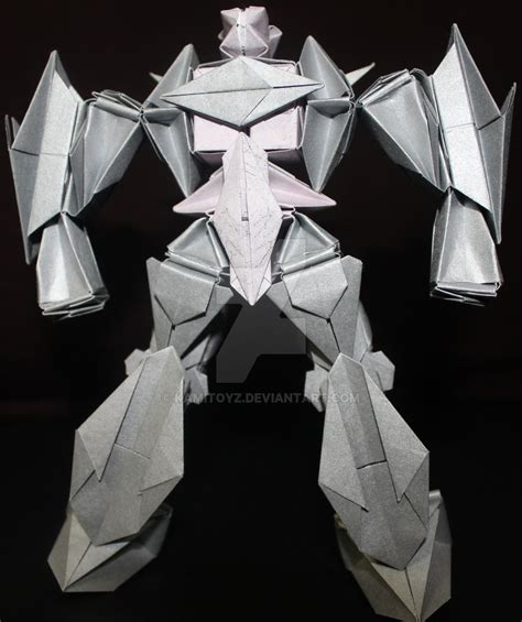 How To Make A Origami Robot - origami robot mecha 7 by kamitoyz on deviantart