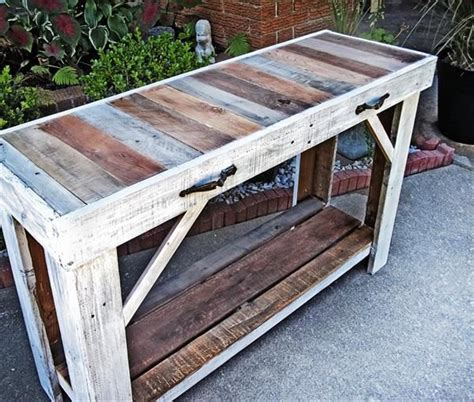 pallet sofa table ideas pallet sofa side table entryway table 101 pallets